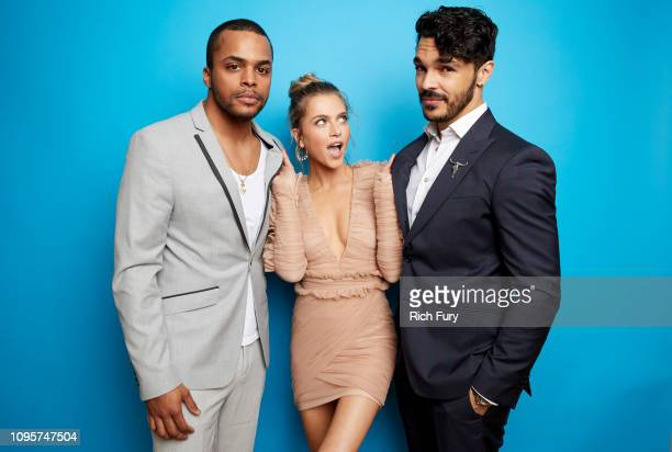 Chris Warren Anne Winters and Shalim Ortiz of ABC's 'Grand Hotel' pose for a portrait during the 2019 Winter TCA Getty Images Portrait Studio at The...