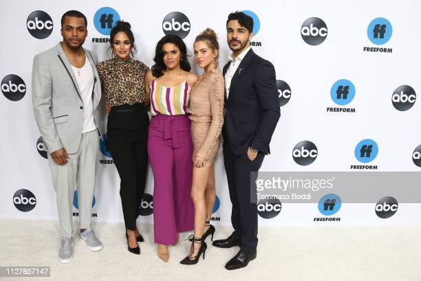 Chris Warren Justina Adorno Anne Winters Feliz Ramirez and Shalim Ortiz attend the Disney ABC Television Hosts TCA Winter Press Tour 2019 at The...