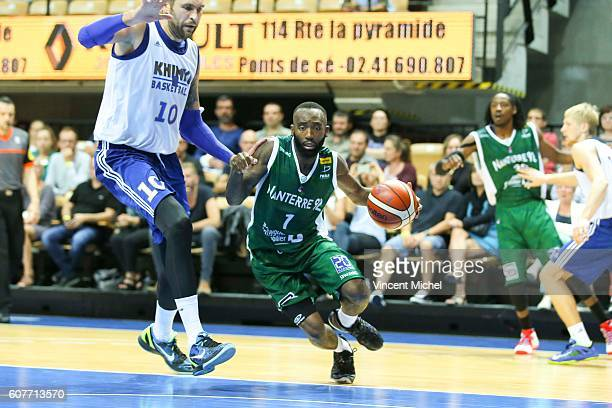 Chris Warren of Nanterre during the match for the 3rd and 4th place between Nanterre and Khimki Moscow at Tournament ProStars at Salle Arena Loire on...