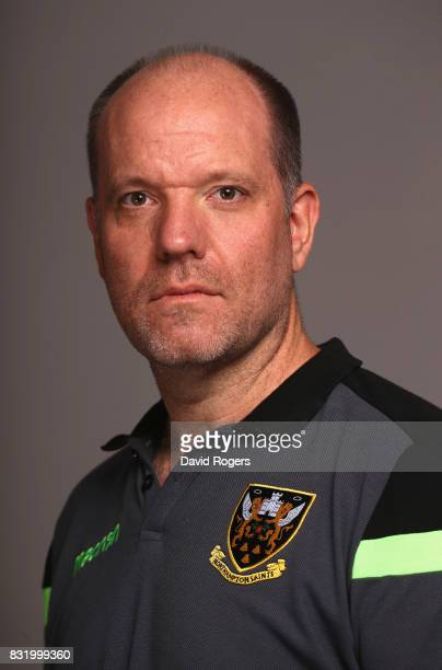 Chris Wearmouth head of communications of Northampton Saints poses during the photocall held at Franklin's Gardens on August 15 2017 in Northampton...