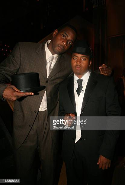 Chris Webber and Nas during Kelis Birthday Dinner at Buddakan in New York United States