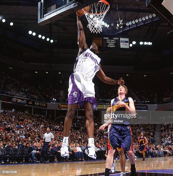 Chris Webber of the Sacramento Kings takes the ball to the basket during a game against the Golden State Warriors at Arco Arena on December 26 2004...