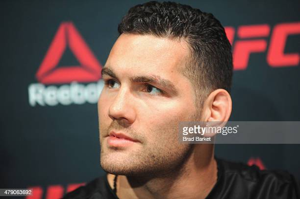 Chris Weidman attends the Launch Of The Reebok UFC Fight Kit at Skylight Modern on June 30 2015 in New York City