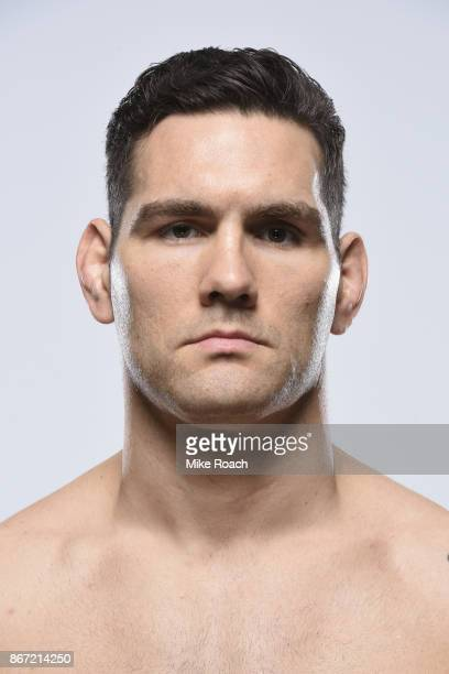 Chris Weidman poses for a portrait during a UFC photo session inside the Buffalo Marriott HarborCenter on April 5 2017 in Buffalo New York