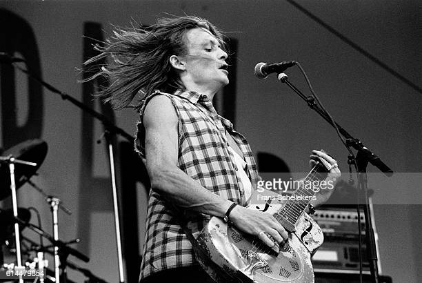 Chris Whitley, vocals and guitar, performs during pinkpop festival on June 28th 1992 at Landgraaf, Netherlands