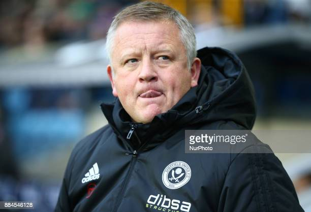 Chris Wilder manager of Sheffield United during Sky Bet Championship match between Millwall against Sheffield United at The Den on 2 Dec 2017