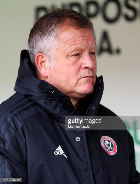 Chris Wilder manager of Sheffield United looks on ahead of the Sky Bet Championship match between Rotherham United v Sheffield United at The New York...