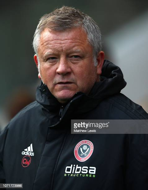 Chris Wilder manager of Sheffield United looks on during the Sky Bet Championship match between Rotherham United v Sheffield United at The New York...