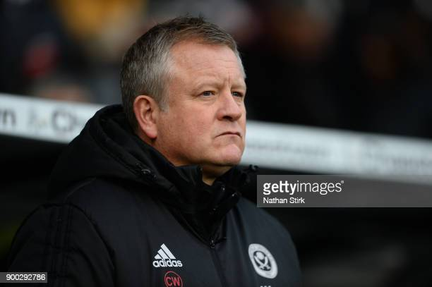 Chris Wilder manager of Sheffield United looks on during the Sky Bet Championship match between Derby County and Sheffield United at iPro Stadium on...