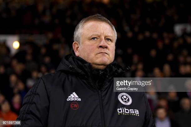 Chris Wilder Manager of Sheffield United looks on prior to the Sky Bet Championship match between Sheffield United and Queens Park Rangers at Bramall...