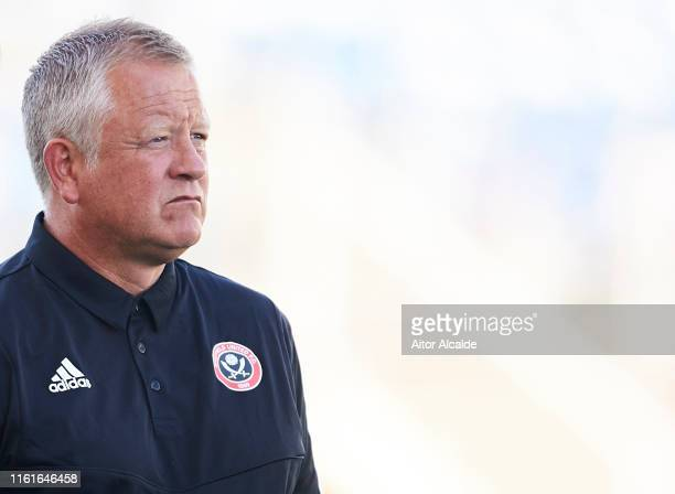 Chris Wilder Manager of Sheffield United looks on prior to the start the preseason friendly match between Real Betis Balompie and Sheffield United FC...