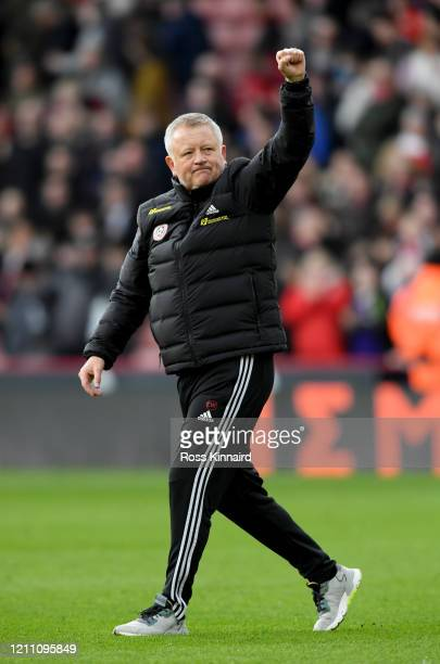 Chris Wilder the manager of Sheffield United after the Premier League match between Sheffield United and Norwich City at Bramall Lane on March 07,...