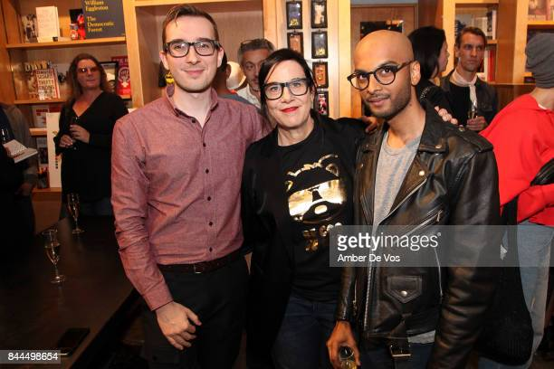 Chris Wilding Arianne Phillips and Noah Katarangam attend Bookmarc celebrates Be Cool Be Nice at BookMarc on September 8 2017 in New York City
