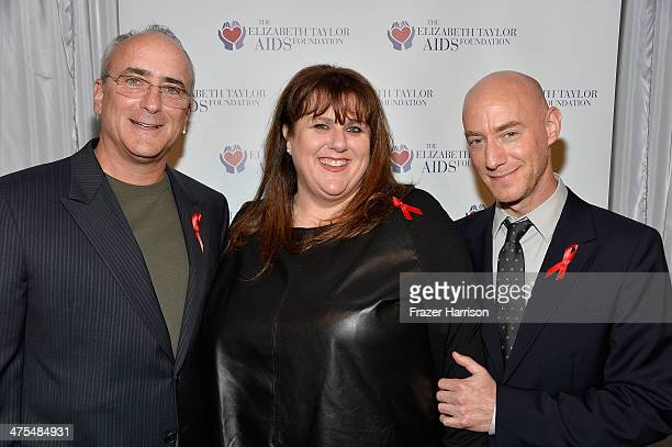Chris Wilding Barbara Berkowitz Tim Mendelson attend The Elizabeth Taylor AIDS Foundation Art Auction Benefit Presented By Wilding Cran Gallery on...