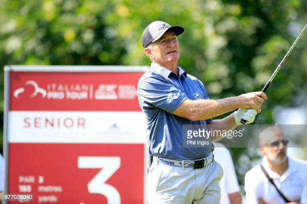 Chris Williams of South Africa in action during the final round of the 2018 Senior Italian Open presented by Villaverde Resort played at Golf Club...