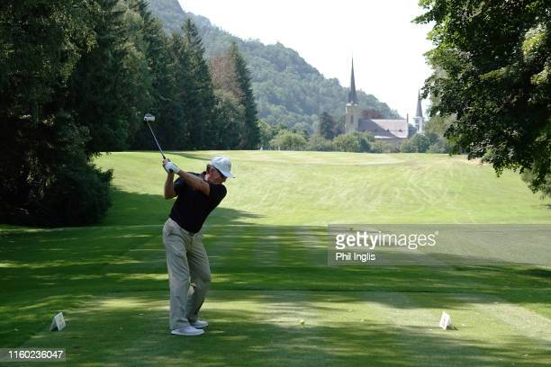 Chris Williams of South Africa in action during the first round of the Swiss Seniors Open played at Golf Club Bad Ragaz on July 05 2019 in Bad Ragaz...