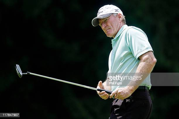 Chris Williams of South Africa in action during the first round of the Bad Ragaz PGA Seniors Open played at Golf Club Bad Ragaz on July 1 2011 in Bad...