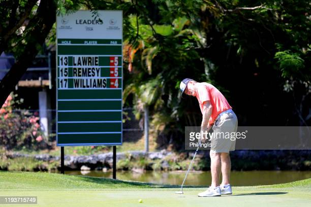 Chris Williams of South Africa in action during the first round of the MCB Tour Championship Mauritius played at Legends Course Constance Belle Mare...