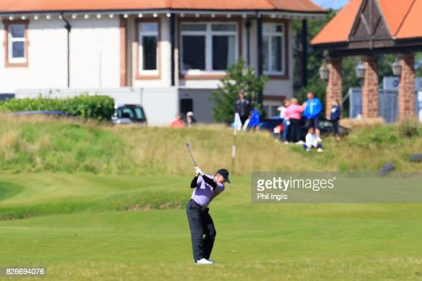 Chris Williams of South Africa in action during the second round of the Scottish Senior Open at The Renaissance Club on August 5 2017 in North...