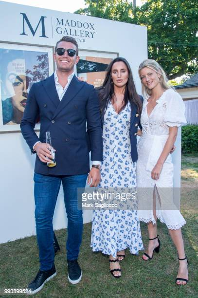 Chris Wilson, Lily Fortescue and Charlotte Baer attend the Hamptons Magazine Cover Star Rose Byrne Celebration Presented By Lalique Along With Maddox...