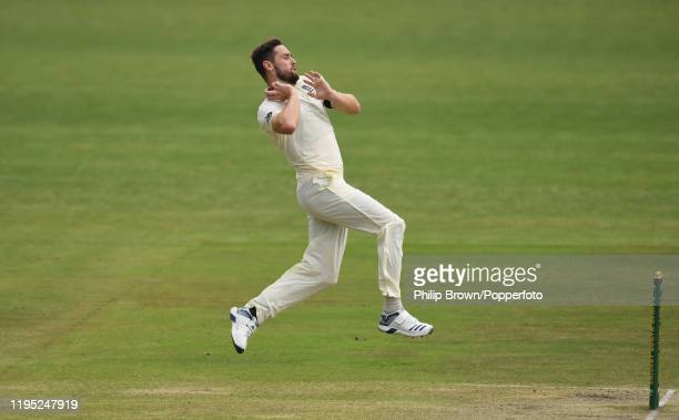 Chris Woakes of England bowls during the second day of the three day match against South Africa A on December 21, 2019 in Benoni, South Africa.