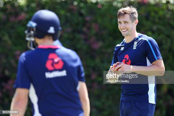 Chris Woakes of England during an England nets session at the Sydney Cricket Ground on January 2 2018 in Sydney Australia