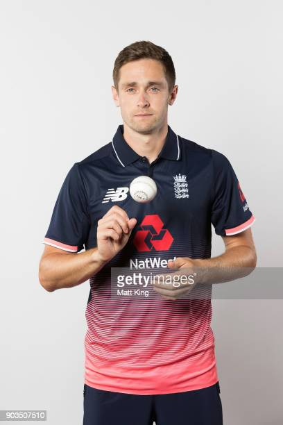 Chris Woakes of England poses during the England One Day International series headshots session at Sydney Cricket Ground on January 10 2018 in Sydney...