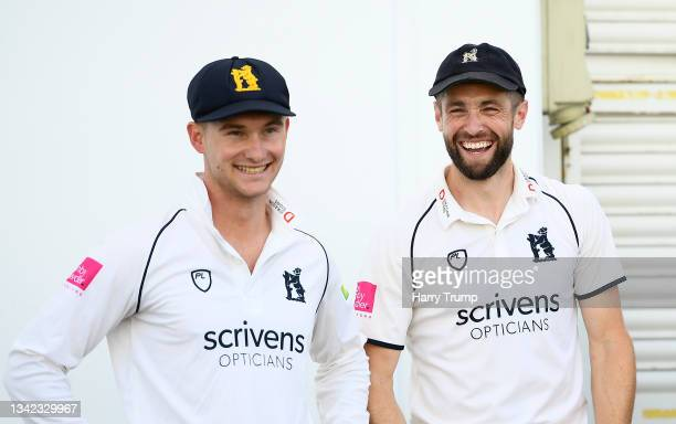 Chris Woakes of Warwickshire celebrates following during Day Four of the LV= Insurance County Championship match between Warwickshire and Somerset at...