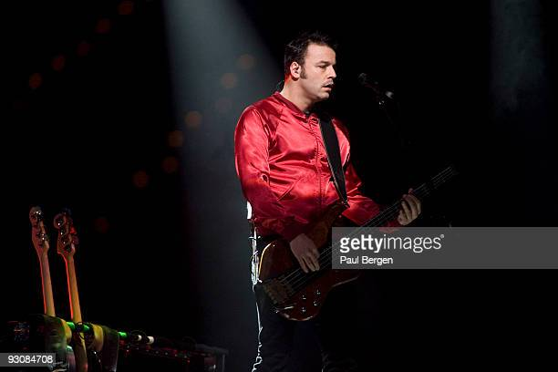 Chris Wolstenholme bass player of Britsh rock band Muse performs on stage at Ahoy on November 14 2009 in Rotterdam Netherlands