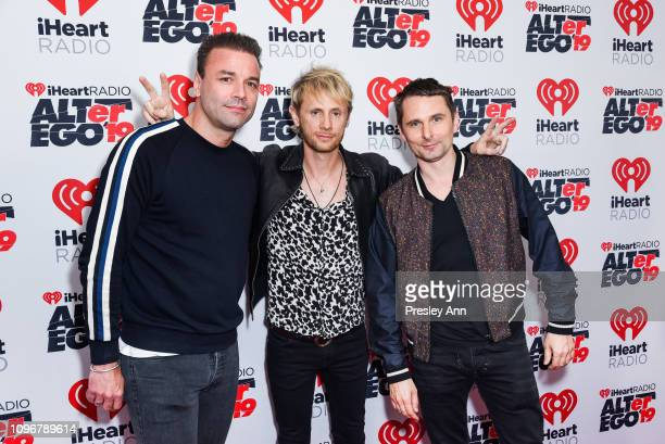 Chris Wolstenholme, Dominic Howard and Matt Bellamy of Muse attend iHeartRadio ALTer Ego at The Forum on January 19, 2019 in Inglewood, California.