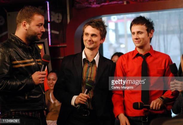 Chris Wolstenholme, Matthew Bellamy and Dominic Howard of Muse