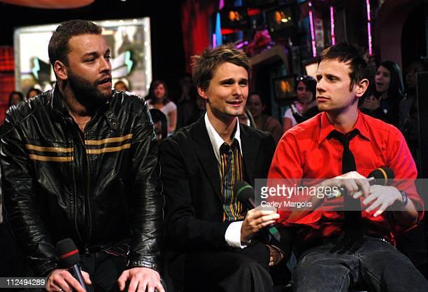 Chris Wolstenholme Matthew Bellamy and Dominic Howard of Muse