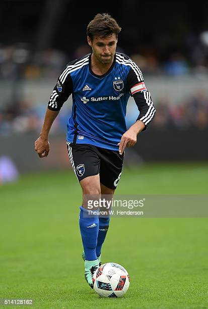 Chris Wondolowski of San Jose Earthquakes looks to pass the ball towards the goal against Colorado Rapids during the second half of their MLS Soccer...