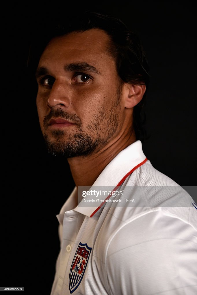 Chris Wondolowski of the United States poses during the Official FIFA World Cup 2014 portrait session on June 9, 2014 in Sao Paulo, Brazil.