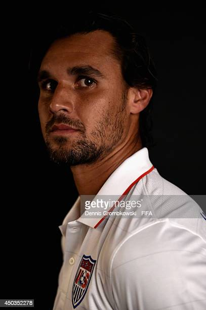 Chris Wondolowski of the United States poses during the Official FIFA World Cup 2014 portrait session on June 9 2014 in Sao Paulo Brazil