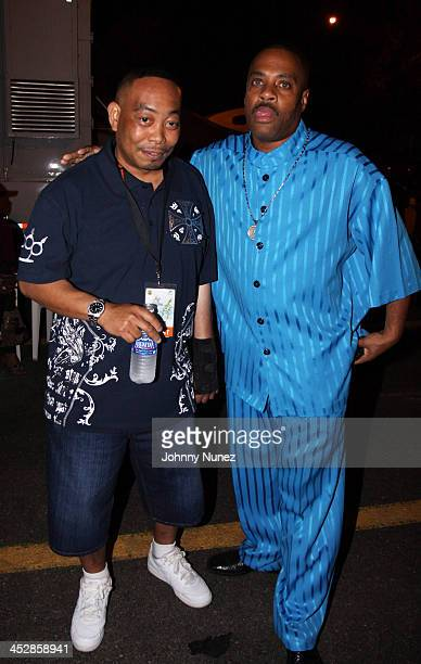 Chris Wong Won aka Fresh Kid Ice and Grandmaster Dee attend the 4th Annual Jazz in the Gardens at Dolphin Stadium on March 28 2009 in Miami Florida