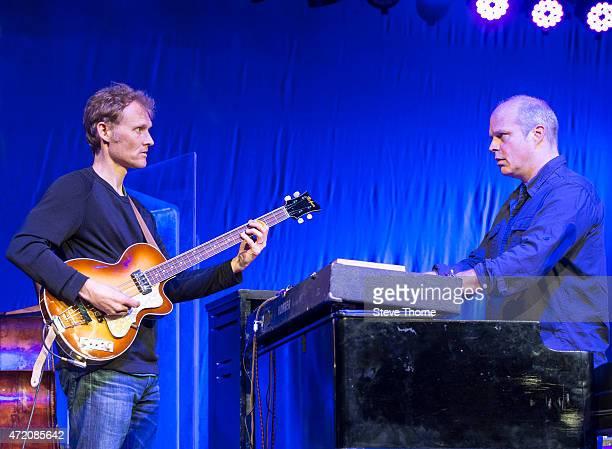 Chris Wood and John Medeski of Medeski Martin Wood perform at the Cheltenham Jazz Festival on May 3 2015 in Cheltenham United Kingdom