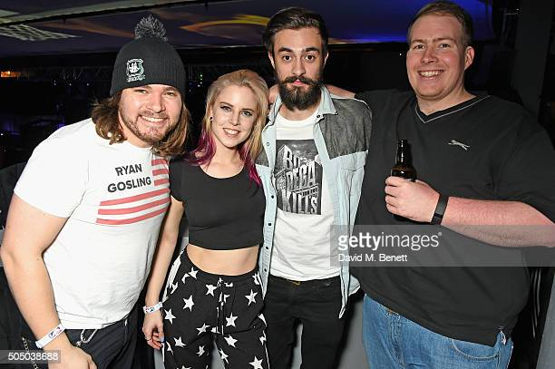 Chris Wood and Kyle J Simmons of Bastille and guests attend the Orlando Magic v Toronto Raptors NBA Global official after party at Building Six in...