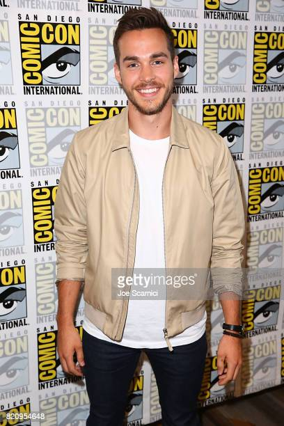 Chris Wood arrives at the 'Supergirl' press line at ComicCon International 2017 on July 22 2017 in San Diego California