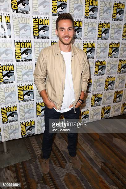 Chris Wood arrives at the Supergirl press line at ComicCon International 2017 on July 22 2017 in San Diego California