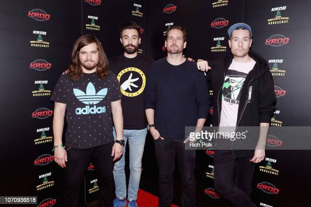 Chris Wood Kyle J Simmons Will Farquarson and Dan Smith of Bastille attend KROQ Absolut Almost Acoustic Christmas at The Forum on December 9 2018 in...