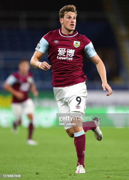 Chris Wood of Burnley during the Premier League match between Burnley and Southampton at Turf Moor on September 26 2020 in Burnley England Sporting...