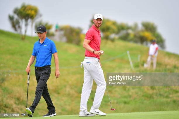 Chris WOOD of England and Marcus KINHULT of Sweden during the HNA French Open on July 1 2018 in SaintQuentinenYvelines France