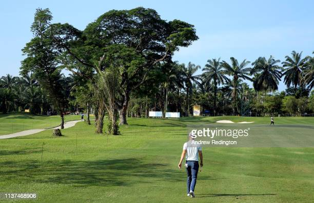 Chris Wood of England in action on Day Two of the Maybank Championship at at Saujana Golf Country Club Palm Course on March 22 2019 in Kuala Lumpur...