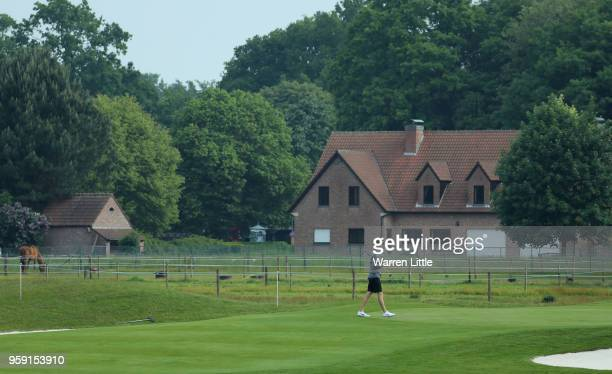 Chris Wood of England plays in the pro am ahead of the Belgian Knockout at the Rinkven International GC on May 16 2018 in Antwerpen Belgium