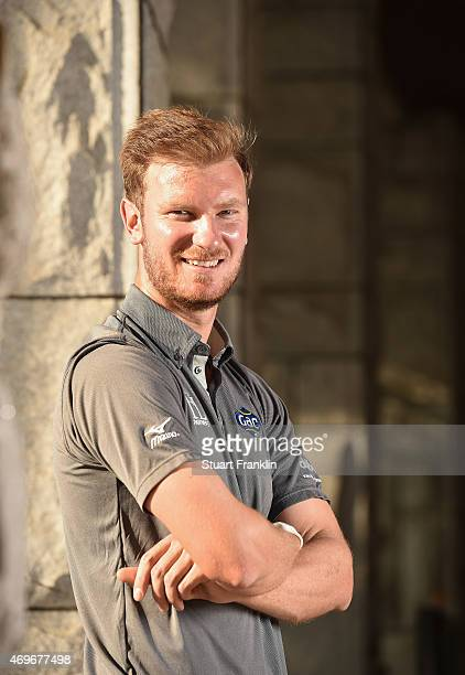 Chris Wood of England poses for a picture prior to the start of the Shenzhen International at Genzon Golf Club on April 15 2015 in Shenzhen China