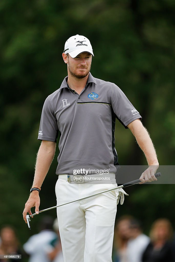 Chris Wood of England stands on the 18th hole during the final round of the Open de Espana held at PGA Catalunya Resort on May 18, 2014 in Girona, Spain.