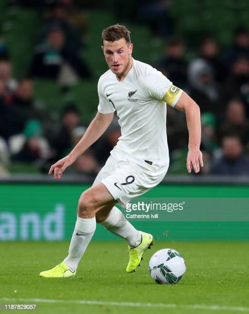 Chris Wood of New Zealand during the International Friendly match between Republic of Ireland and New Zealand at Aviva Stadium on November 14, 2019...