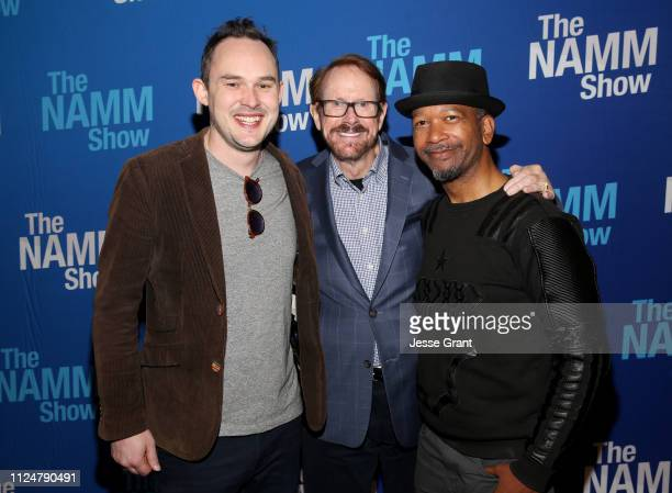 Chris Woods, Daniel Burrus and Marcus Bell attend the Breakfast Session during the Breakfast Session during the 2019 NAMM Show at the Anaheim...