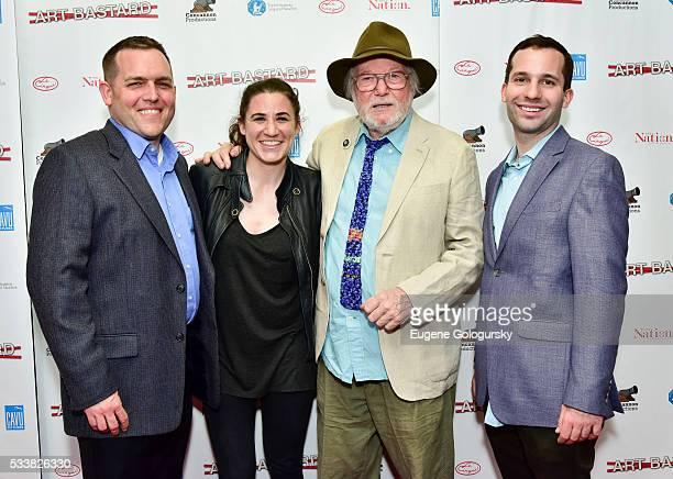 Chris Woods, Samantha Klinger, Robert Cenedella, and Mark Zivkovic attend the NY Premiere Of ART BASTARD on May 23, 2016 in New York City.